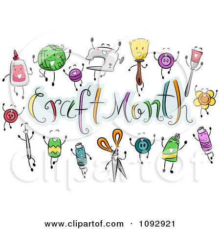 Craft tools clipart.