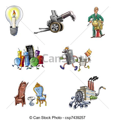 Stock Illustrations of Handicraft and industry csp7439257.