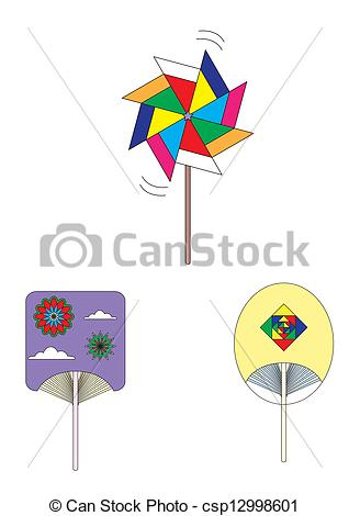 Vector Clipart of Handicraft fan.