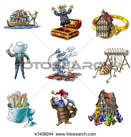 Drawings of Handicraft and industry_3 k7439244.