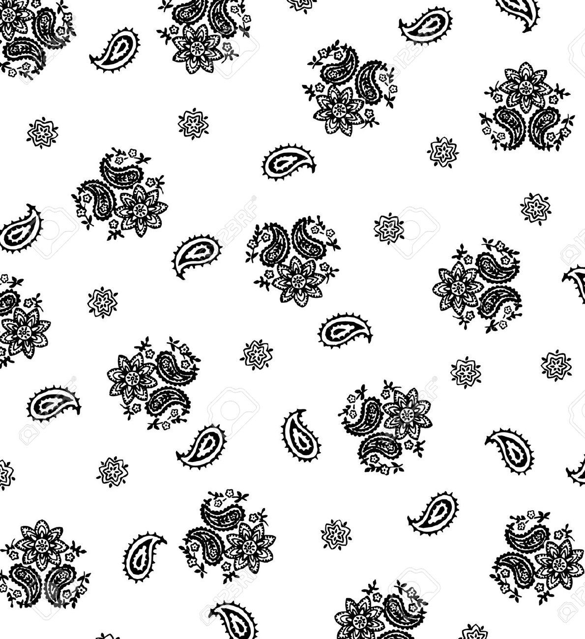 Bandana clipart black and white, Bandana black and white.