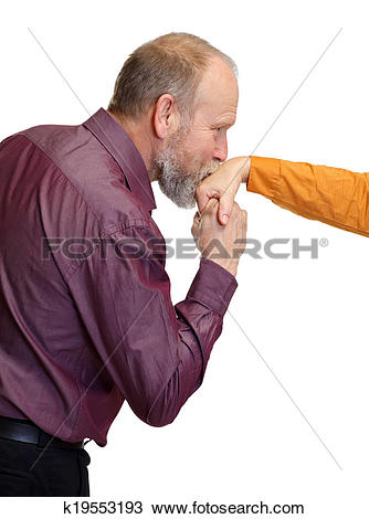 Stock Photo of Hand kiss k19553193.