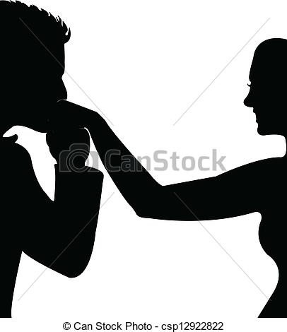 Kissing hand clip art.
