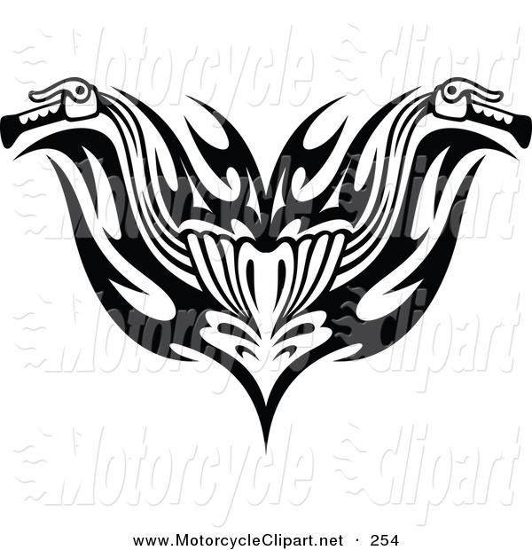 Motorcycle handlebar clip art.