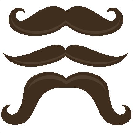 Handlebar Mustache Clipart.