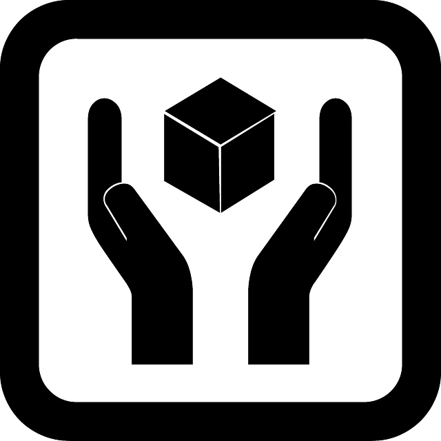 Handle with care vector symbol.