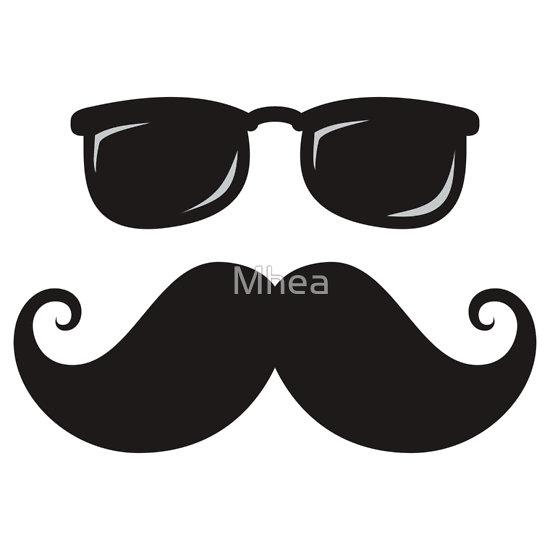 Handlebar Mustache Clip Art.