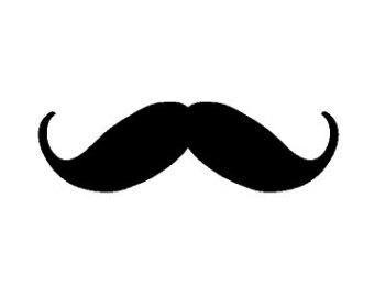 Handlebar moustache clipart.