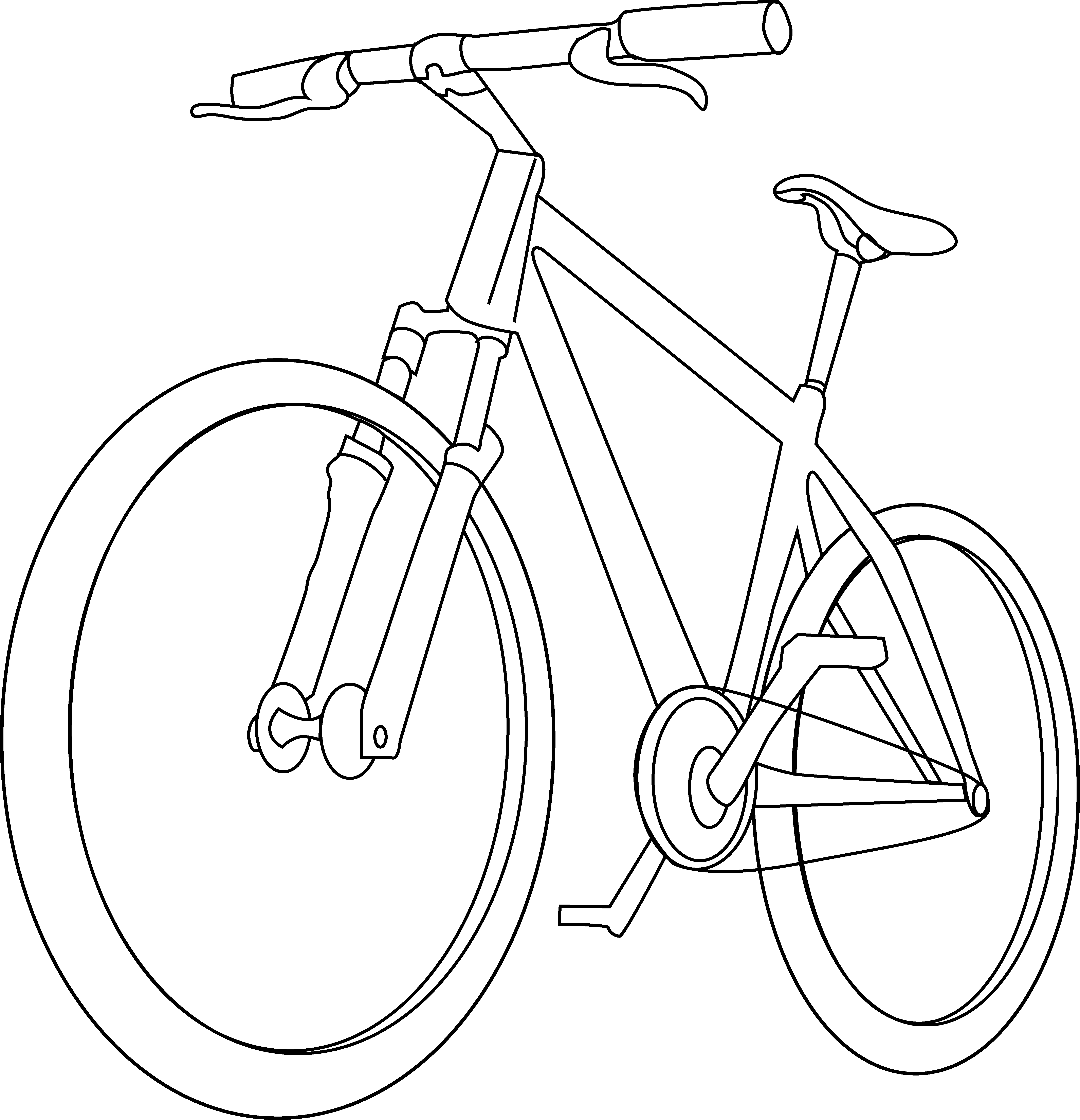 Bicycle Coloring Page.
