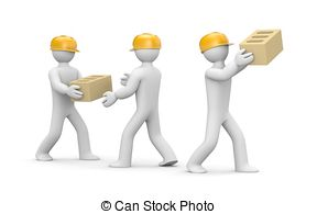 Moving and handling clipart.