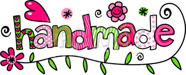 Handmade Doodle Text Label Clip Art.