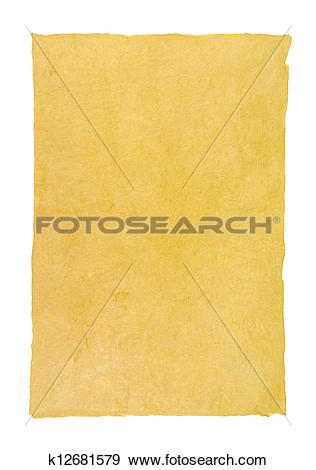Stock Photograph of handmade paper with deckle edge k12681579.