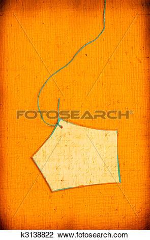 Clip Art of Handmade paper tag k3138822.