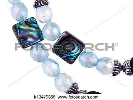 Stock Images of strings of handmade woman necklace k13479366.