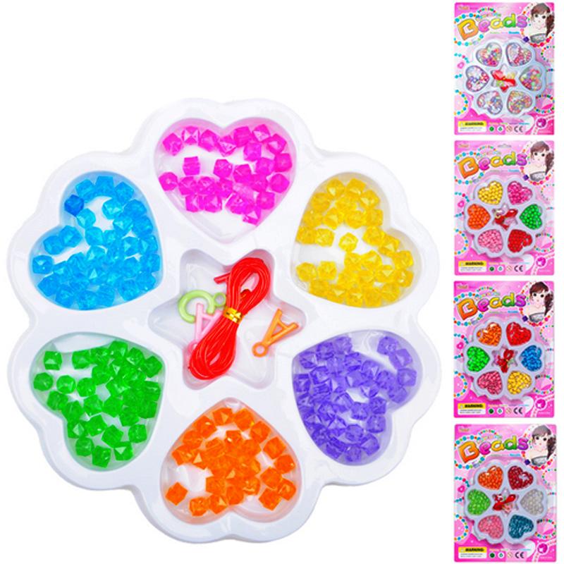 Wholesale Colorful Diy Handmade Plastic String Beads Toys Set.