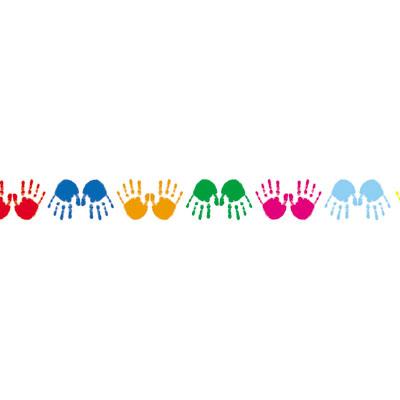 Free Handprint Border, Download Free Clip Art, Free Clip Art.