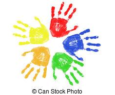 handprint clip art #8