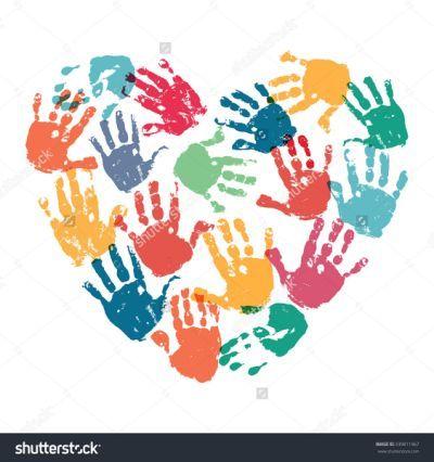 Handprint Heart Preschool Clipart.