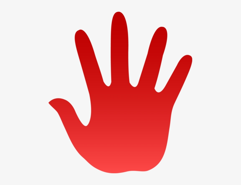 Handprint clipart high five, Handprint high five Transparent.