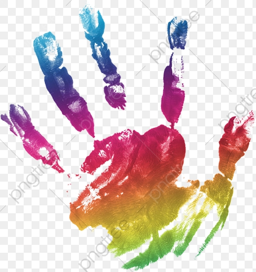Handprint, Handprint Color, Handprint Clipart PNG Transparent Image.
