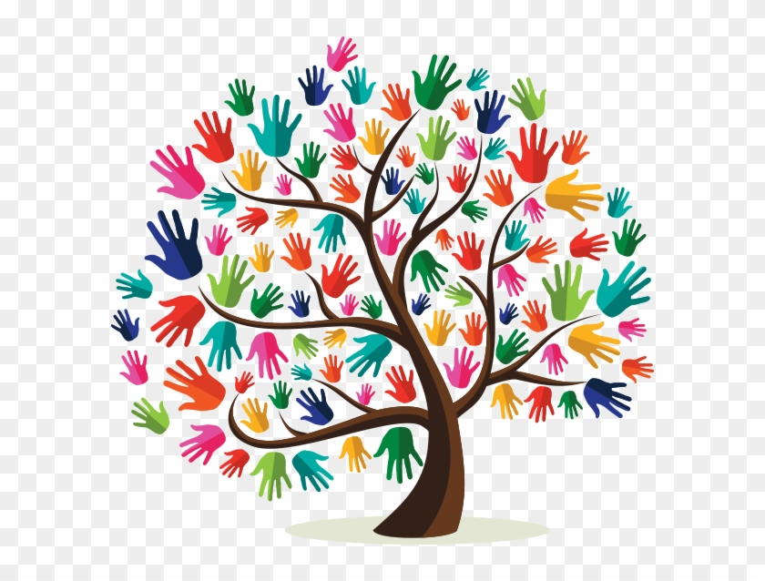 Helping Hands Tree Clip Art, HD Png Download.