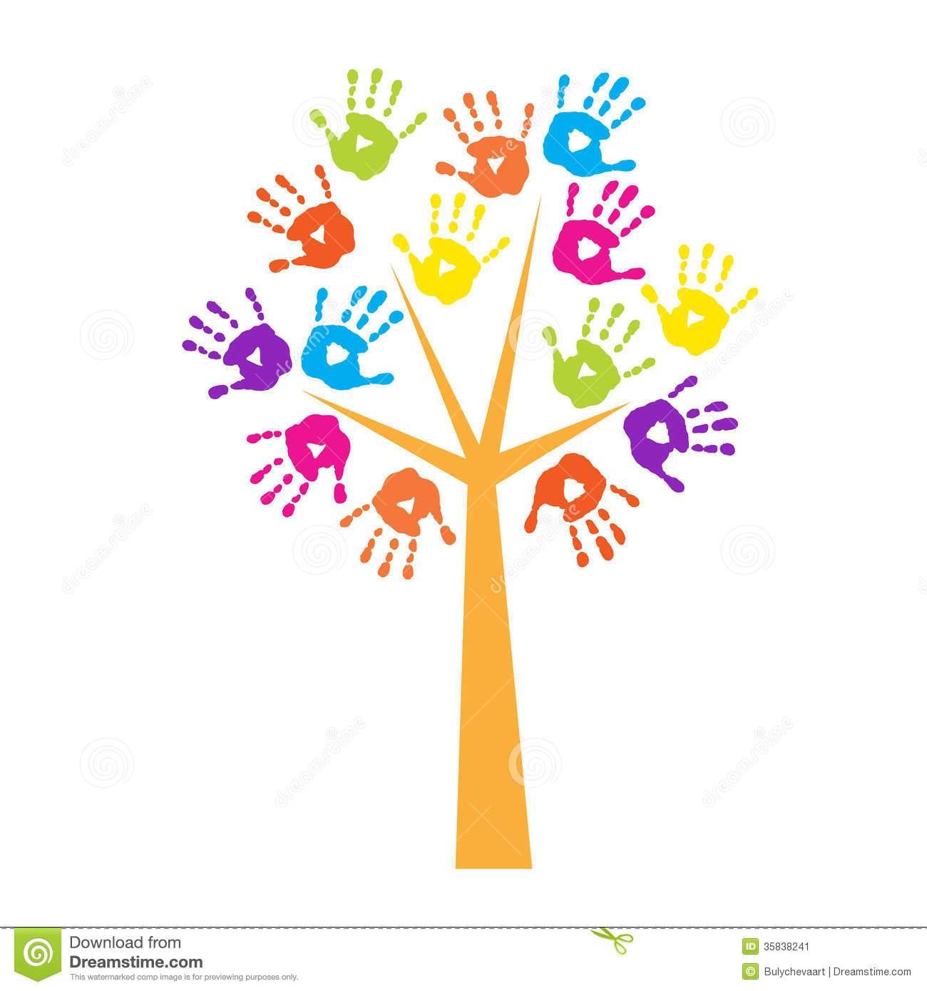 Handprint tree clipart 1 » Clipart Portal.