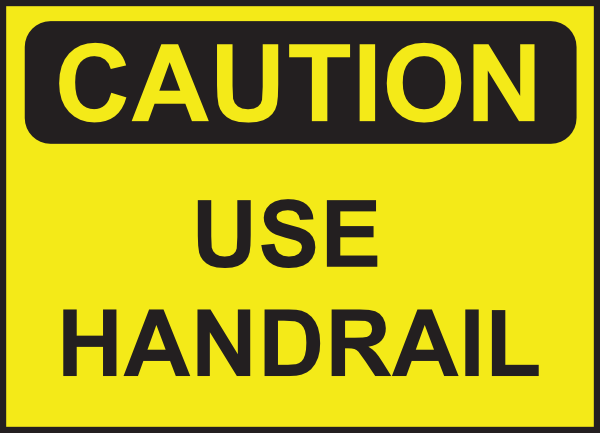 Caution Use Handrail Clip Art at Clker.com.