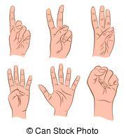 1 2 3 4 5 silhouette hands Vector Clip Art EPS Images. 9 1 2 3 4 5.