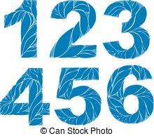 Vectors of 1, 2, 3, 4, 5 Silhouette Hands.