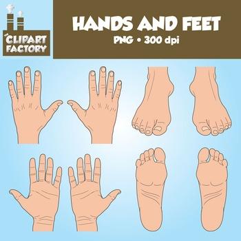 Clip Art: Hands and Feet.