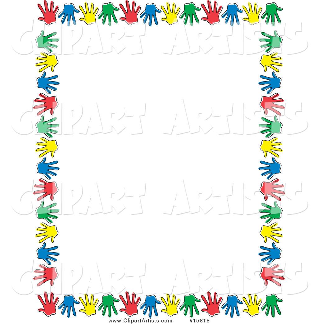 Free Hands Border Clip Art.