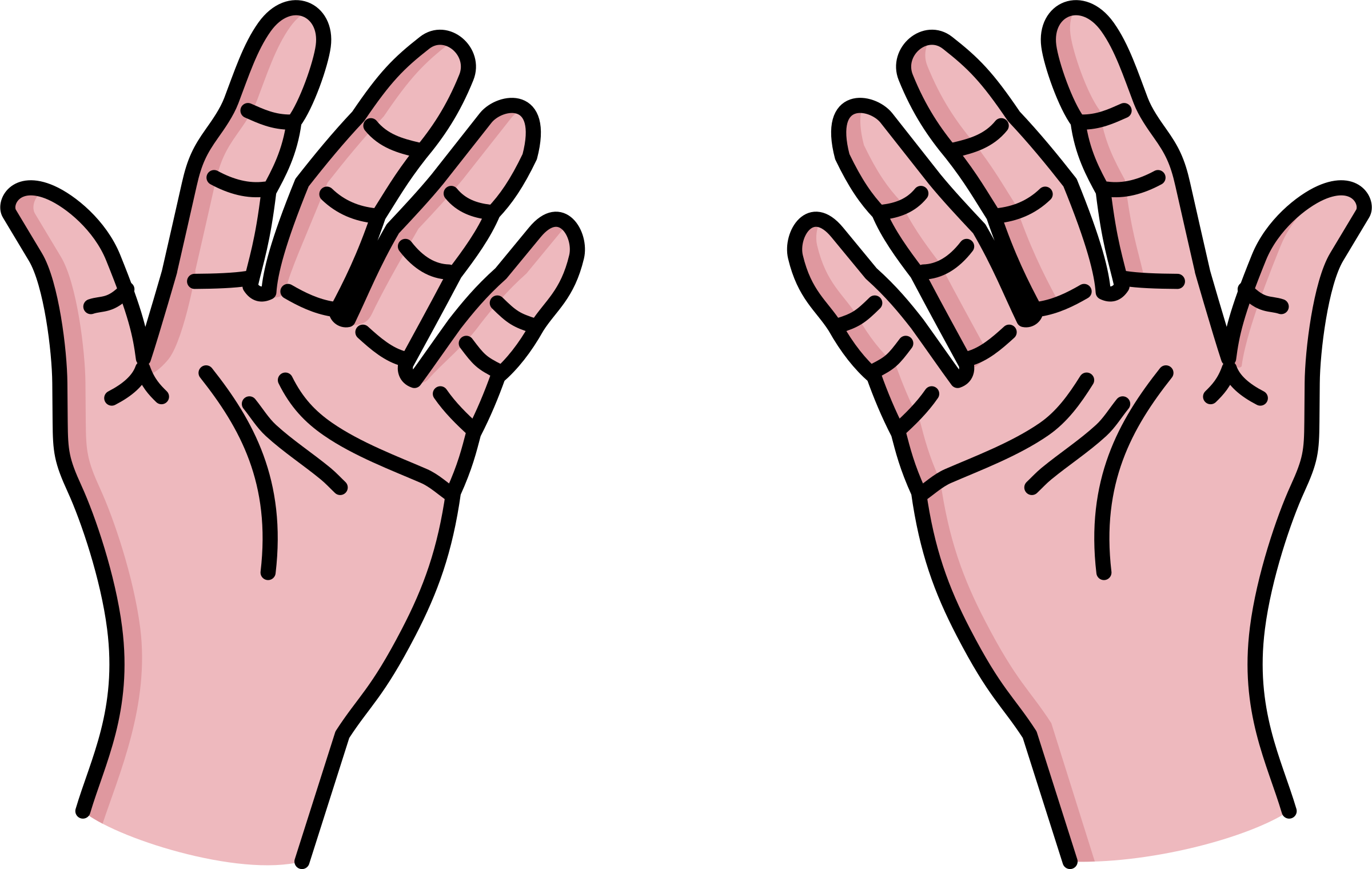 The Hands On The Clipart