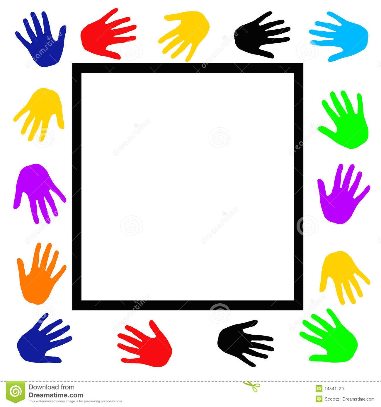 Helping Hands Border Clipart.