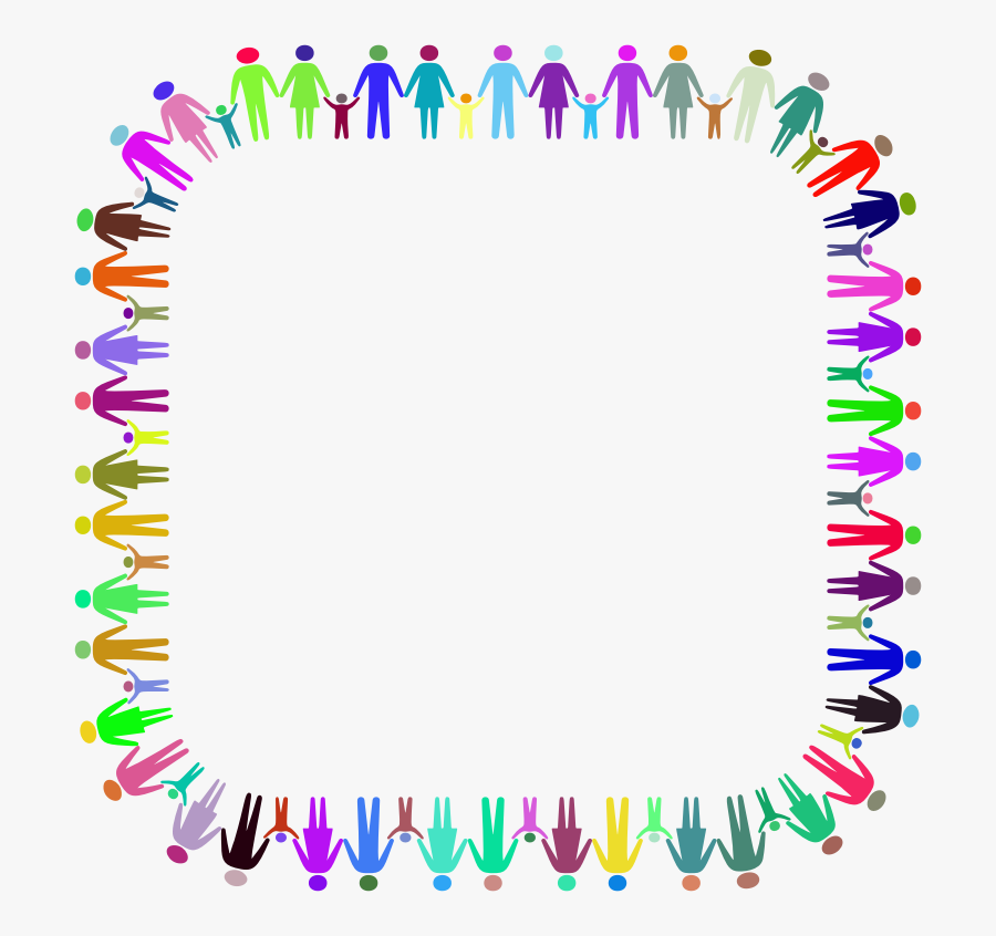 Family Holding Hands Border , Free Transparent Clipart.