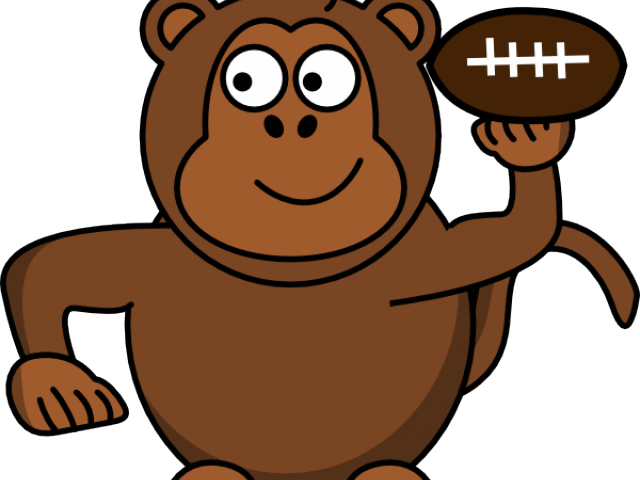 Monkey Clipart Football.