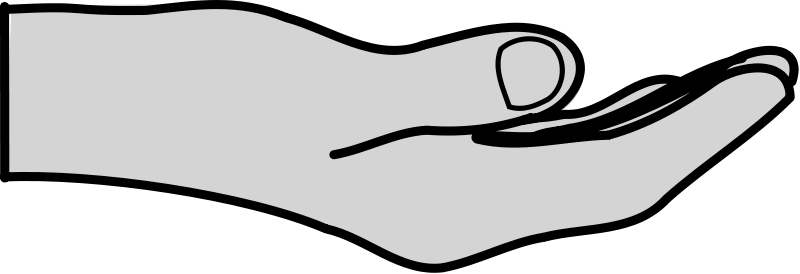 Hands Extended Clipart.