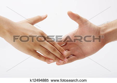 Stock Image of Hands extended towards each other k12494885.