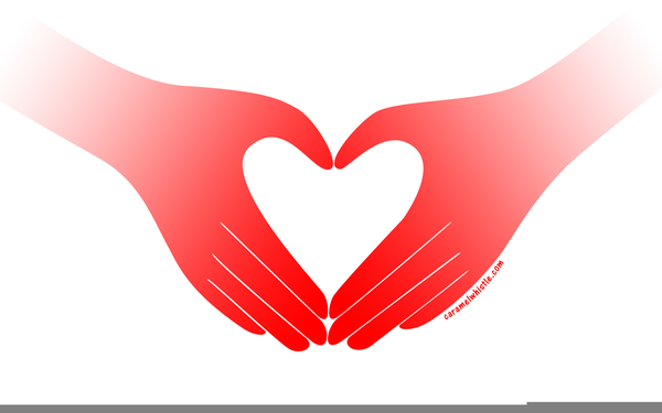 Hands Forming Heart Clipart.