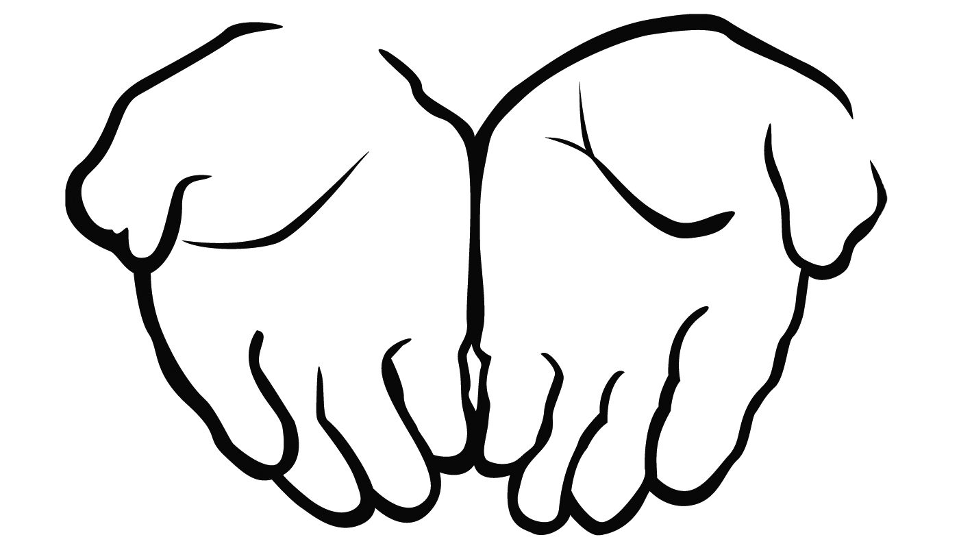 Clip art of praying hands free clipart images clipartcow.