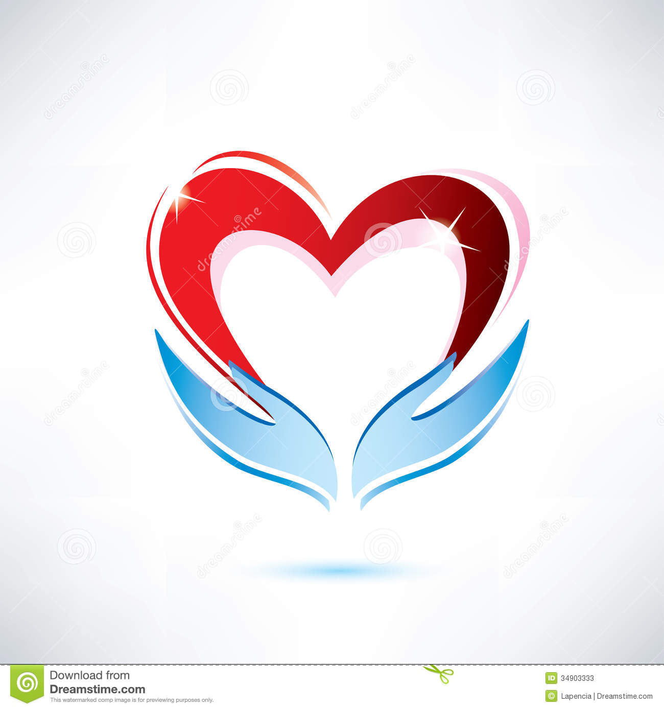 Hands Holding Heart Clipart.