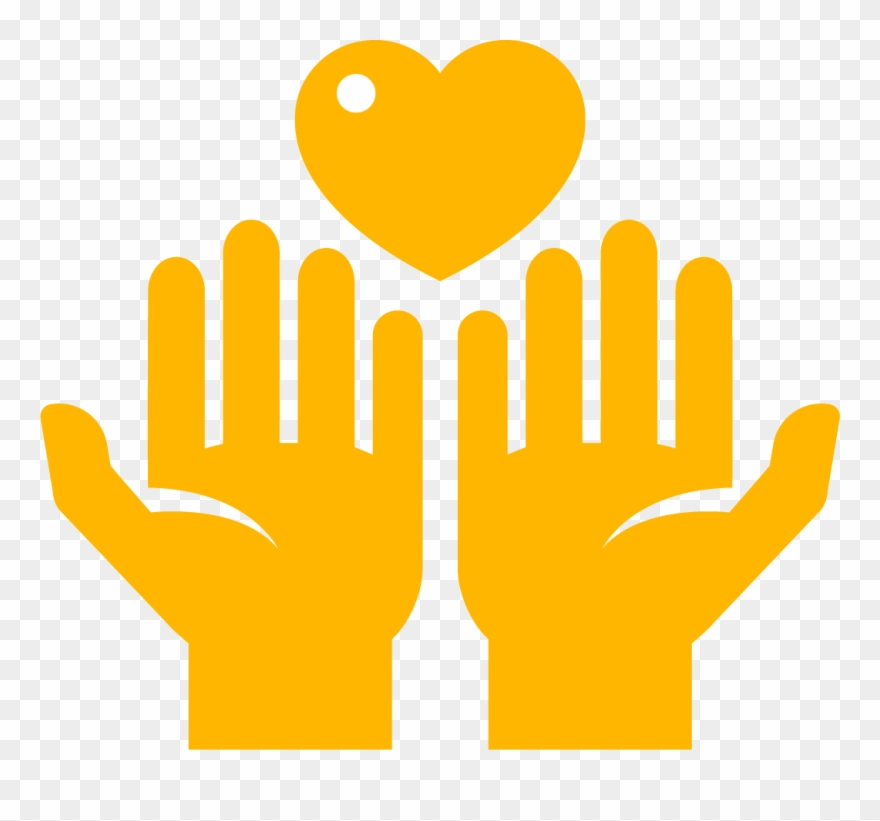 Hands Holding Heart Icon.