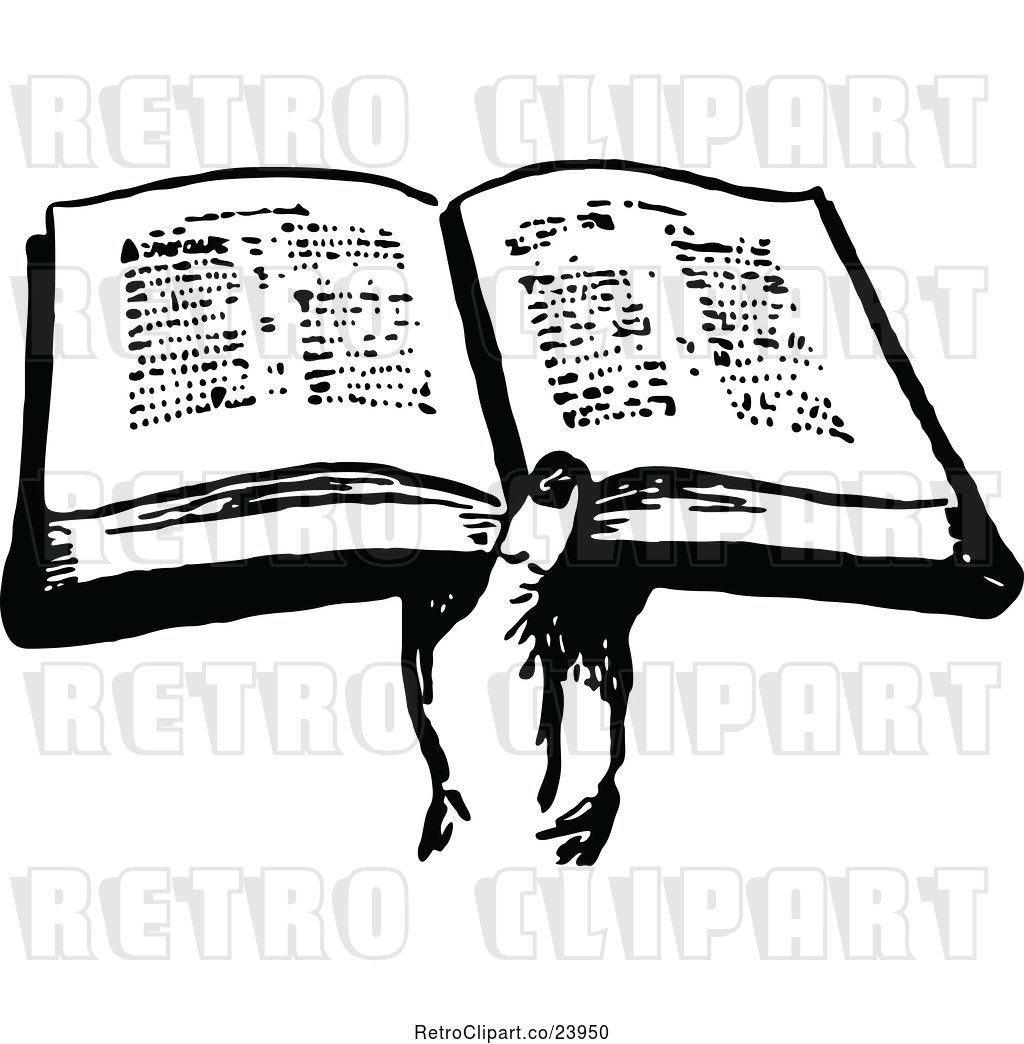 Vector Clip Art of Retro Hand Holding a Bible by Prawny.