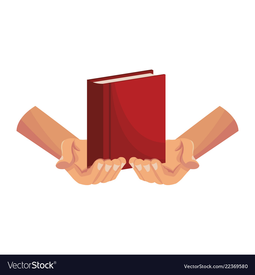 Hands holding bible.