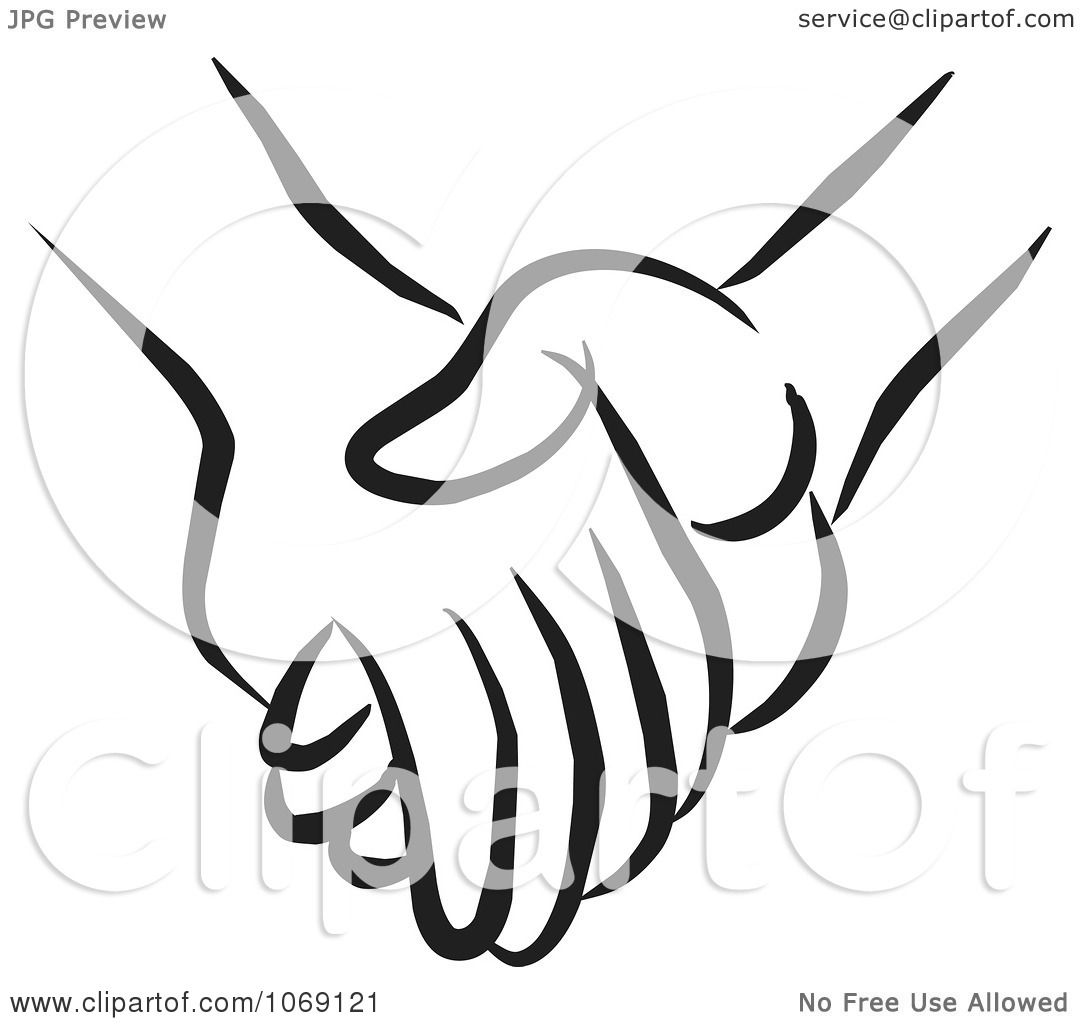 Clipart Pair Of Holding Hands.