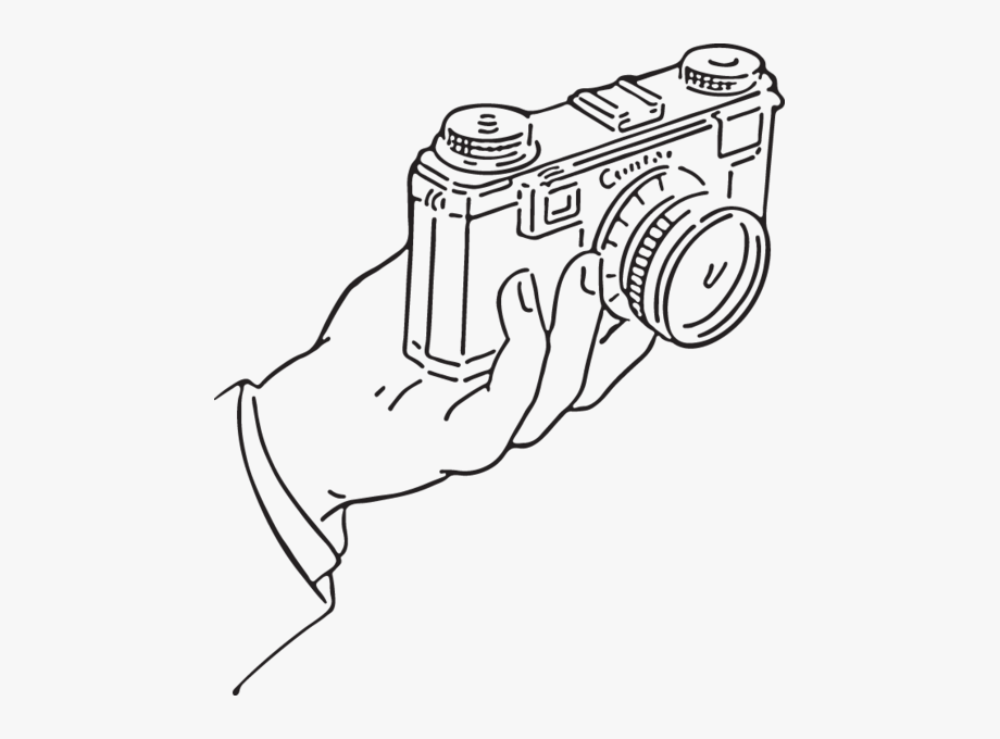 Hand Holding Camera Vector Clipart, Clipart Images,.