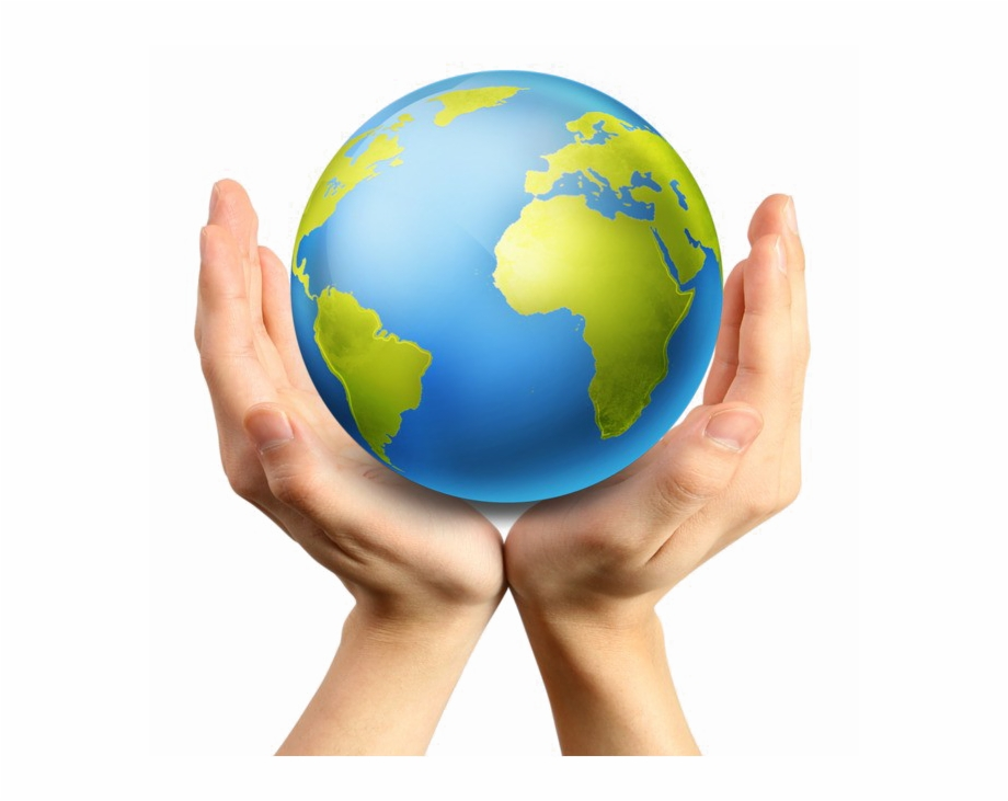 Earth In Hand Png Image Background.