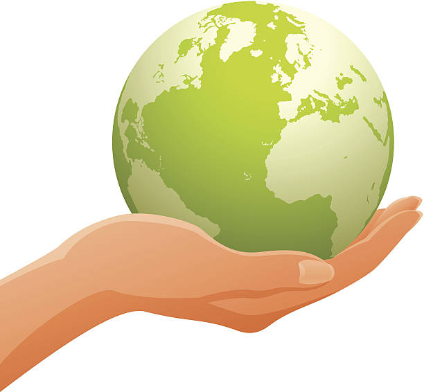 Hands Holding Globe Clipart.