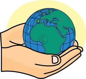 Hands Holding Globe.