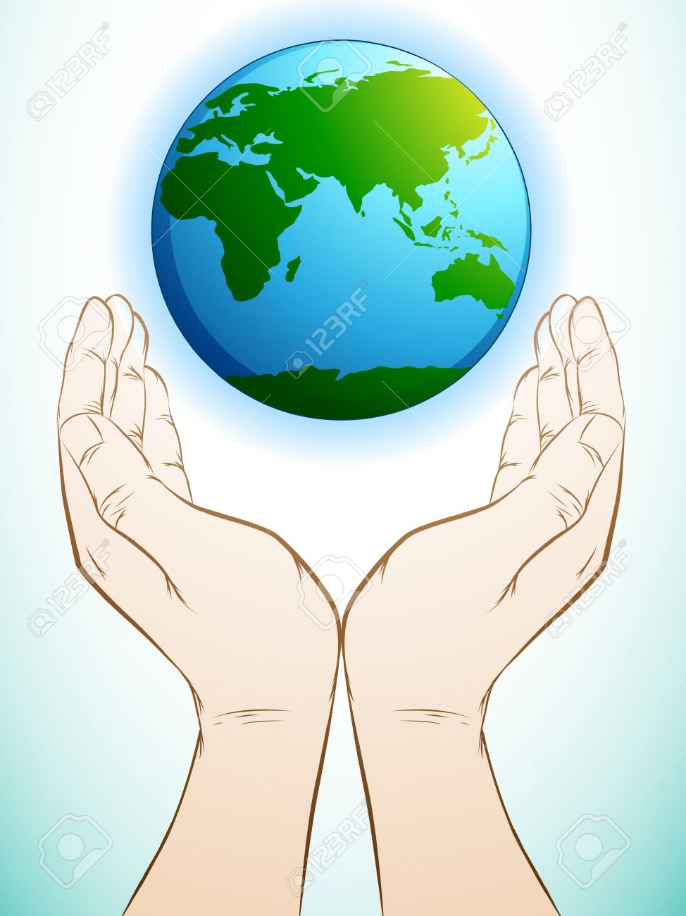 Hands Holding The Earth Clipart.