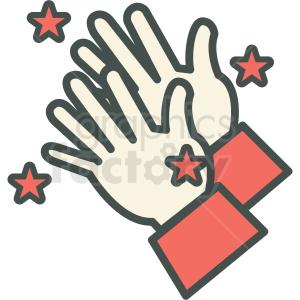 magic hands vector icon . Royalty.